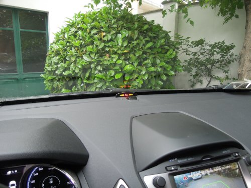 Invisible electromagnetic parking sensors: display wireless on dashboard